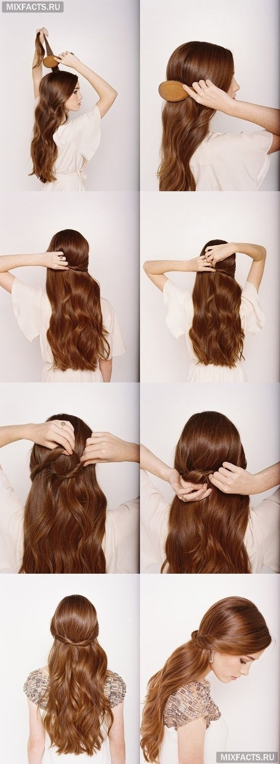 Прически на длинные волосы своими руками пошаговое фото для девочек фото 712
