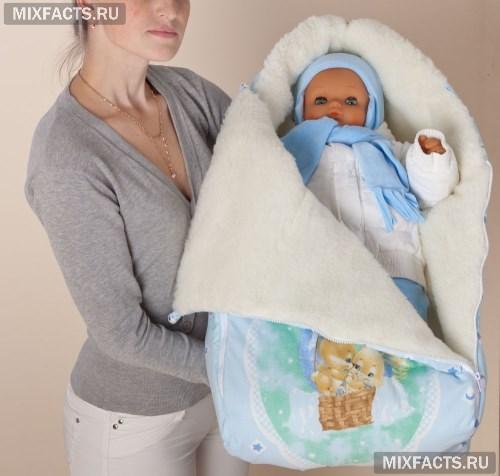 для новорожденных зима конверты фото