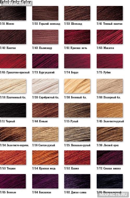 палитра красок для волос фото
