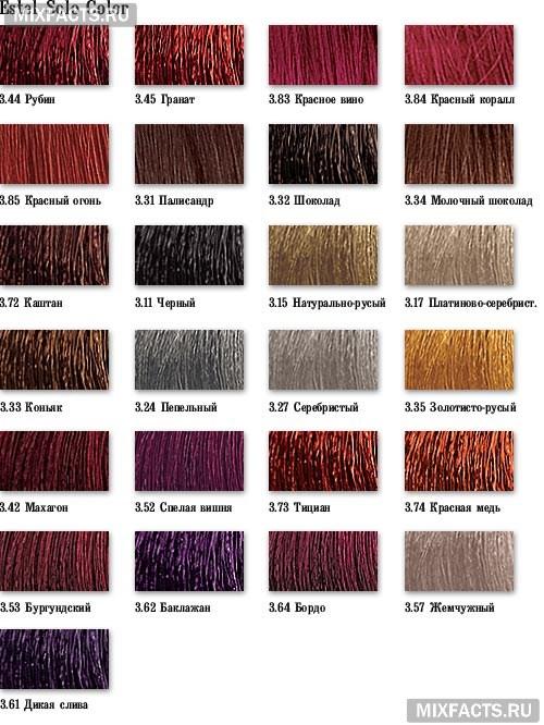 краска для волос эстель палитра. Estel Solo Color cb0e76877848f