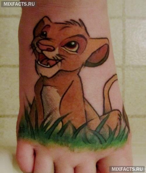 женские татуировки лев