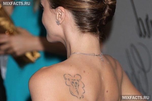 Тату знак зодиака лев для девушек на шее