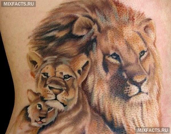 женские татуировки льва