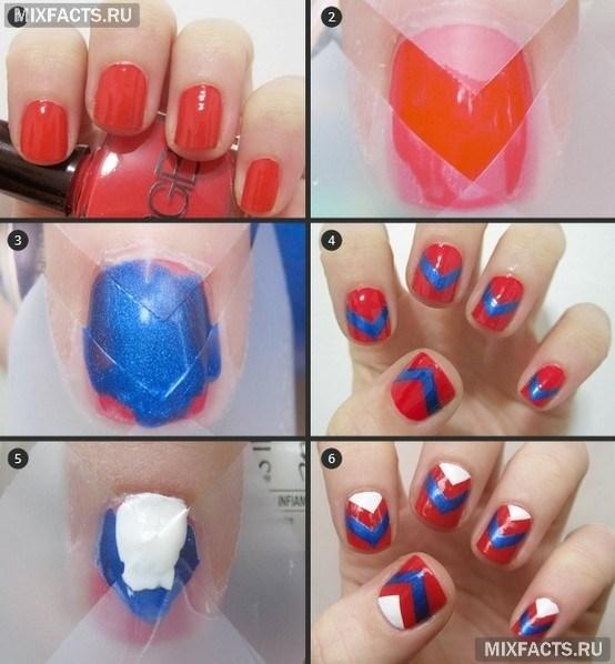 Как сделать полоски на ногтях дома 34
