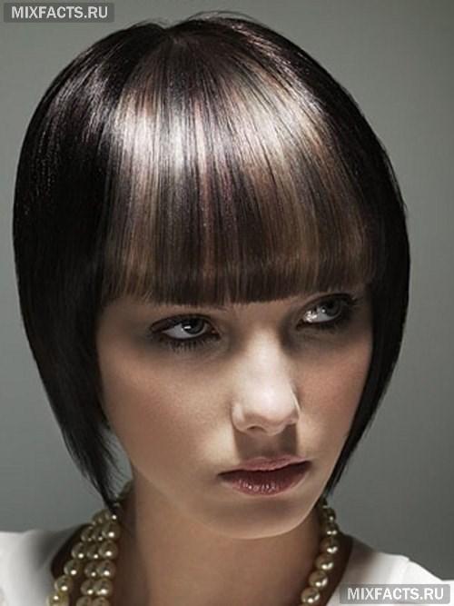 Как сделать мелирование на черный цвет волос 43