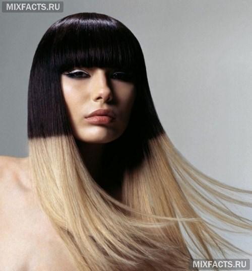Как сделать мелирование на черный цвет волос 70