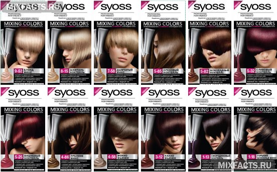 фото красок для волос цвета