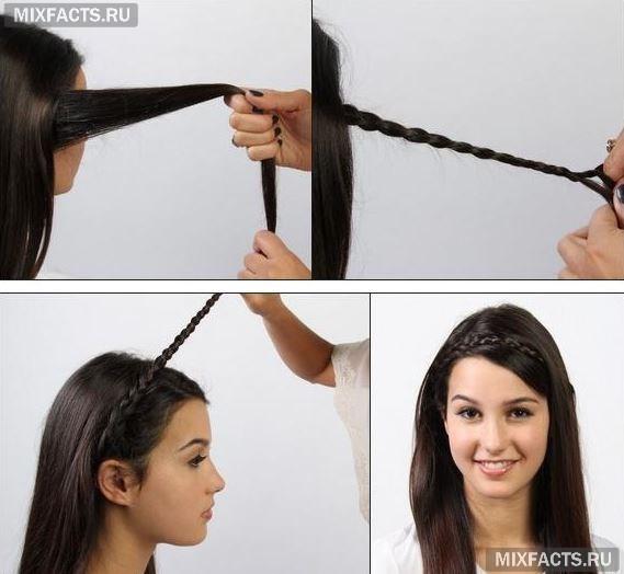 Как сделать волосы на обруч для волос