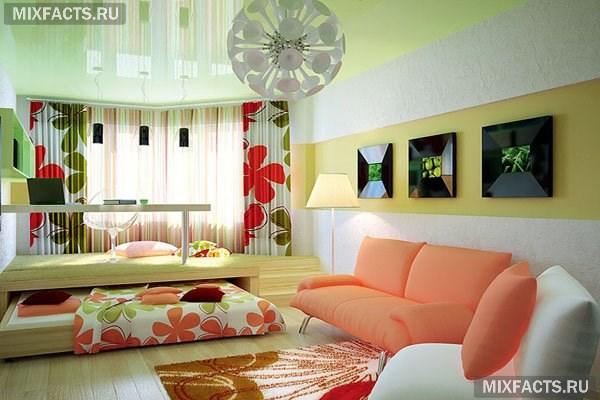 фото спальня гостиная в одной комнате