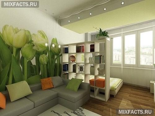 спальня гостиная в одной комнате фото