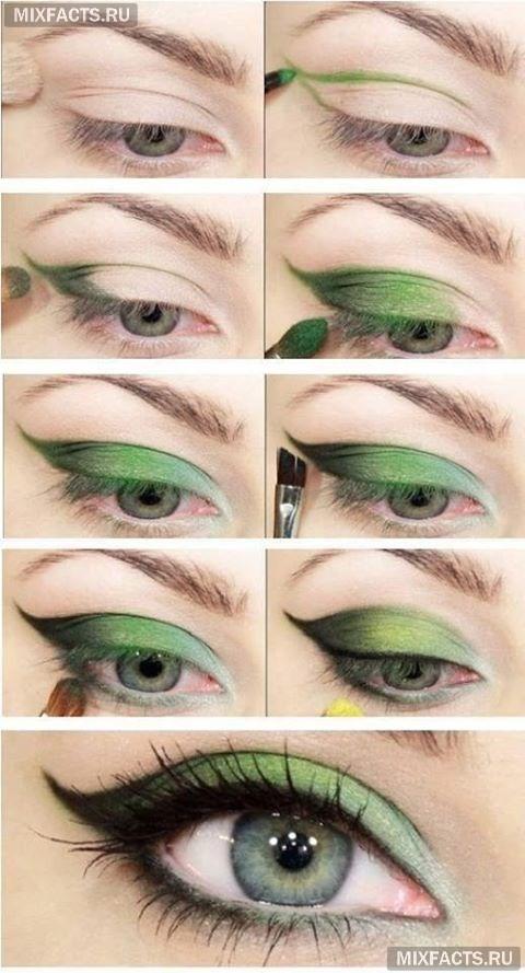 Макияж тени для зеленых глаз фото