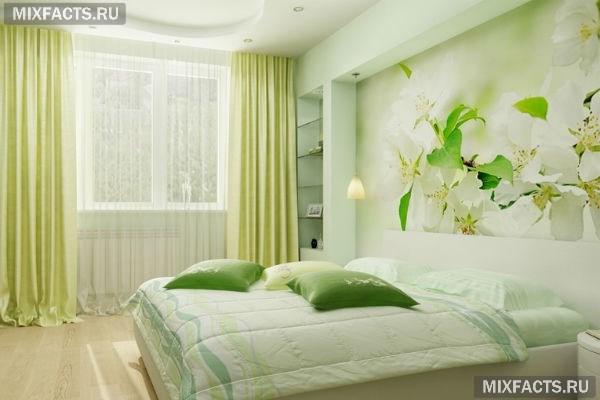 цветы в интерьере спальни фото