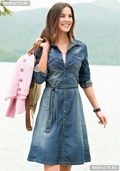 8c491e24ca4 Джинсовое платье  фото стильных моделей