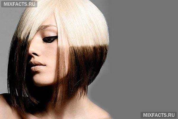 Волосы покрасить в два цвета